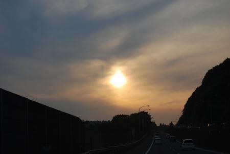 2861帰路の夕陽