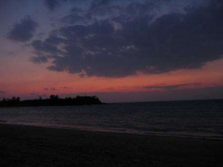 5957かりゆしビーチ夕景