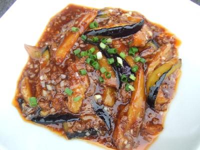 魚香茄子(マーボー茄子)