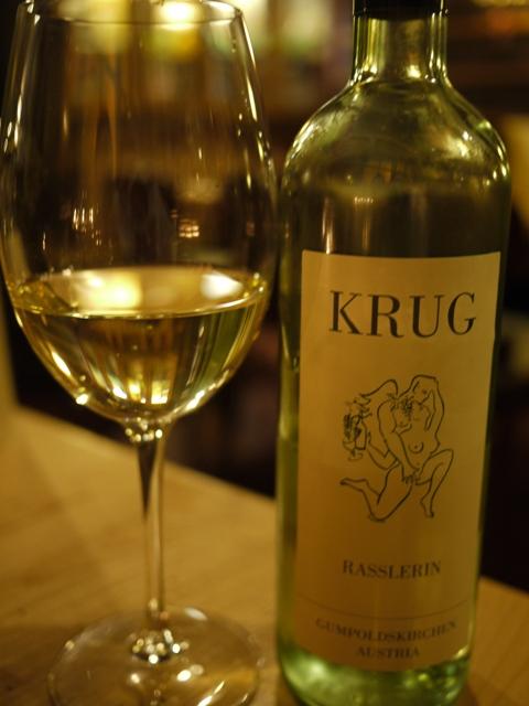 Krugの白ワイン。
