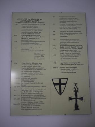 ドイツ騎士団の城に掲げられた年表。
