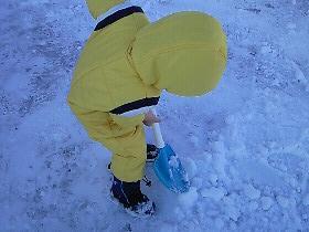 雪かきのお手伝い?