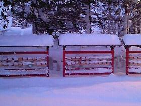 絵馬も雪の中