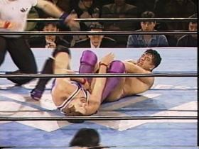 高田vsデイのフィニッシュ、ヒールホールド