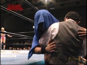高田リングイン直前に藤波と抱擁