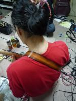 生徒さんにプレゼントされたギターストラップ