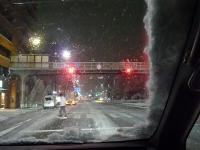 帰り道の京都の雪