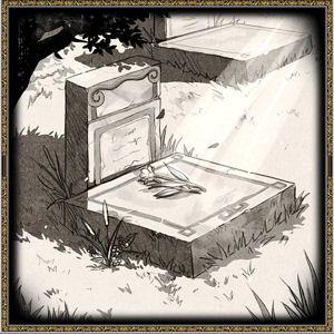 スミレと墓