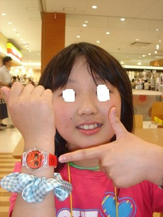 DSC03135モモタの腕時計する実織○