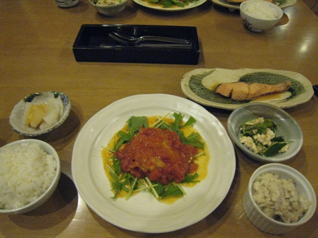 風景画夕食2