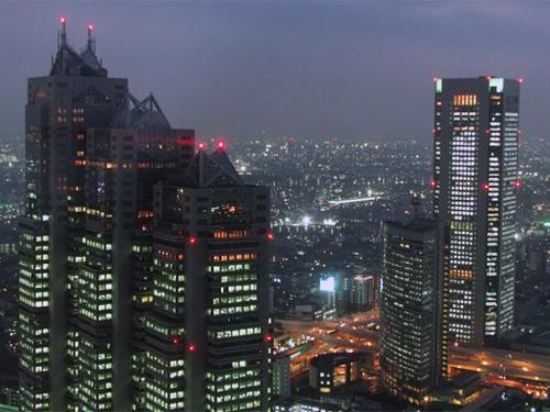 夕暮れの西新宿