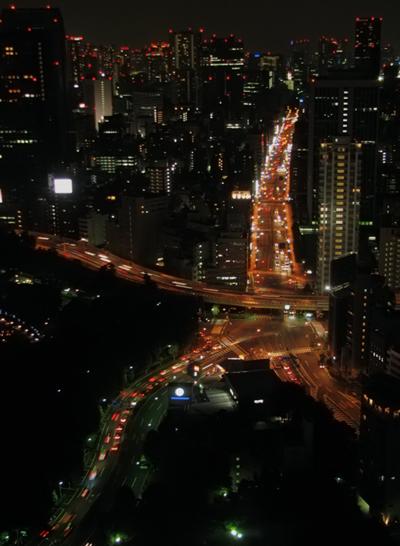 東京タワーから 赤羽橋