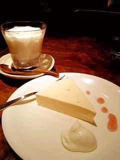 こぐま ケーキセット(ラズベリーレアチーズ+あずきラテ)