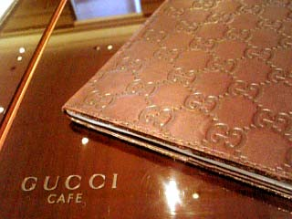 GUCCI CAFE メニュー表