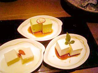 豆腐料理 空ノ庭 3種豆腐