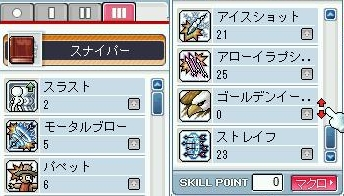 弩3次スキル振り(97レベル)