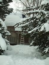 091227屋根の雪下ろし作業前