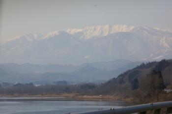 釜房湖から見る蔵王