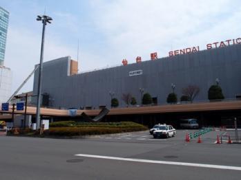 復興中の仙台駅