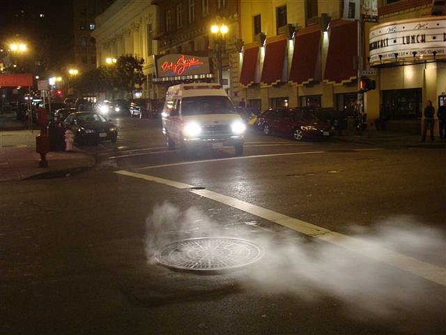 Steaming Manhole in San Francisco