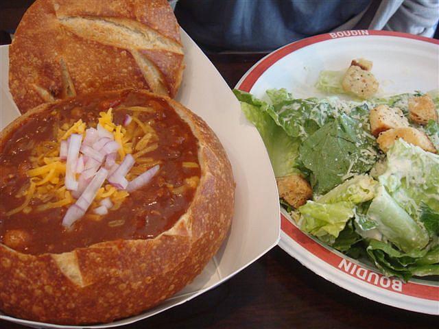 Chili in Sourdough Bread