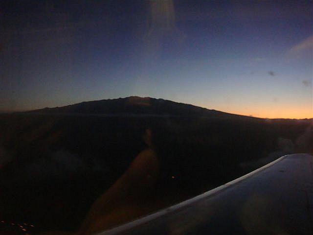 Mauna Kea viewed from airplane