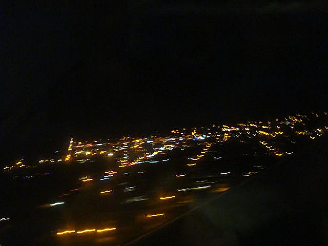 Flying to Hilo at night