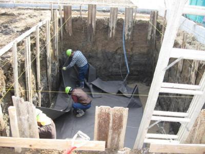 雨水浸透設備掘削