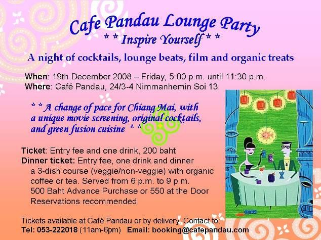 Café Pandau Lounge Party