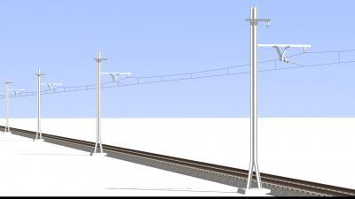秩父鉄道に良くあるレール再利用の架線柱