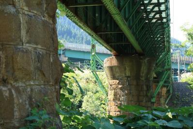清水トンネル前の橋。 こちらもまた煉瓦造り。
