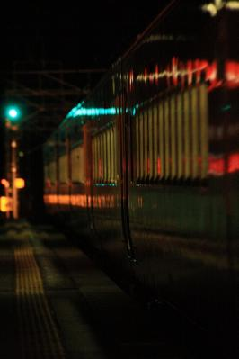 敷島駅を通過する特急水上6号