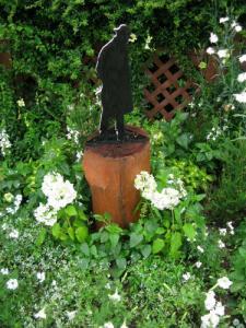 紫陽花の白い花に