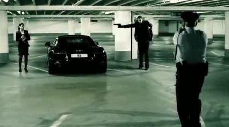 アウディR8のコマーシャル映像の画像