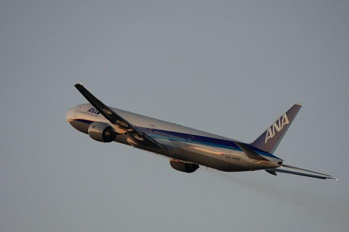 ANA B777-381 ANA36@藤ノ木周辺猪名川土手(by 40D with EF100-400/4.5-5.6L IS)