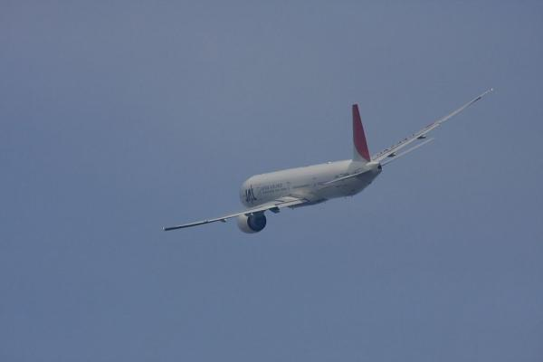JAL B777-346 JAL2001@エアフロントオアシス(by 40D with SIGMA300/2.8EX+APO TC2x)