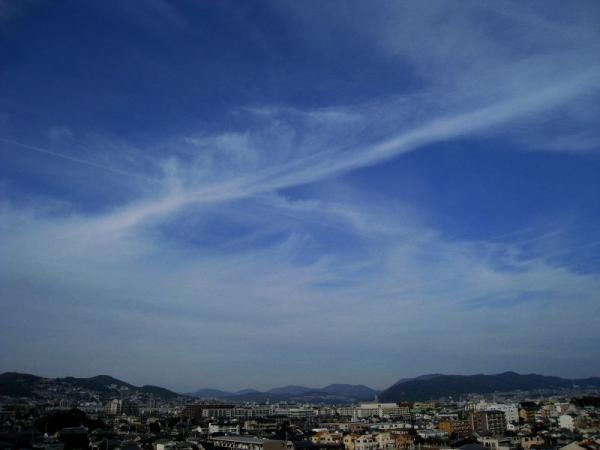 川西・池田・五月山方面の空(by IXY DIGITAL 910IS)