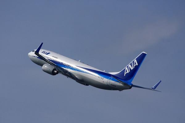 ANA B737-881 ANA167@RWY14Rエンド猪名川土手(by 40D with EF100-400/4.5-5.6L IS)