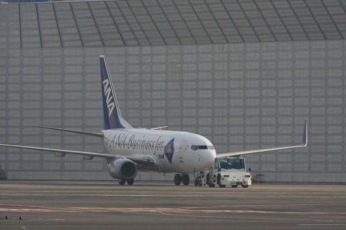 ANA B737-781ER JA10AN Business Jet@RWY14Rエンド猪名川土手(by 40D with SIGMA APO300/2.8EX+APO TC2x)