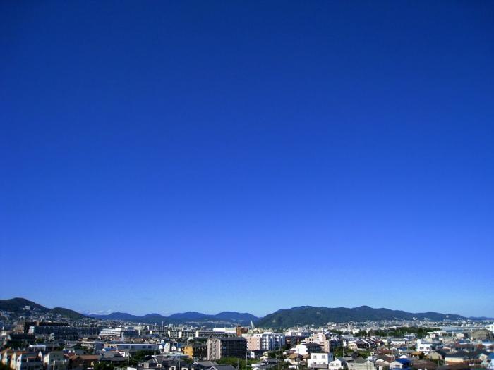 五月山方面の空@会社屋上(by IXY DIGITAL 910IS)