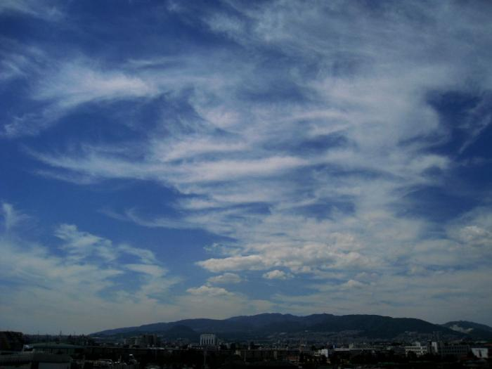今日の六甲山方面の空@会社(by IXY DIGITAL 910IS)