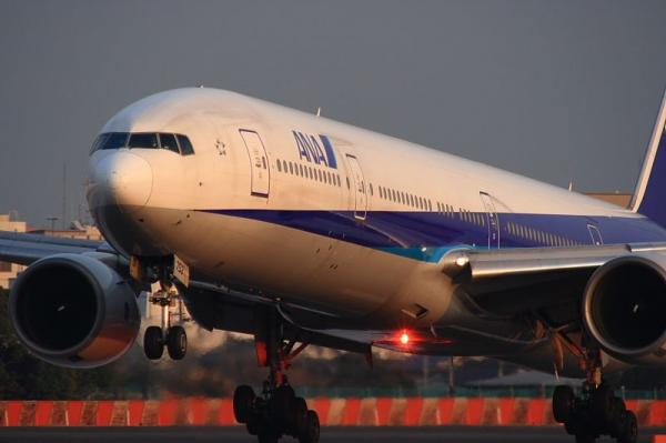 ANA B777-381 NH33@伊丹スカイパーク(by KDX with SIGMA300/2.8EX+APO TELE×2)
