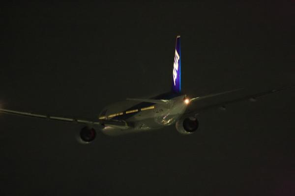 ANA B777-381 NH38@RWY14Rエンド(by 40D with EF100-400)