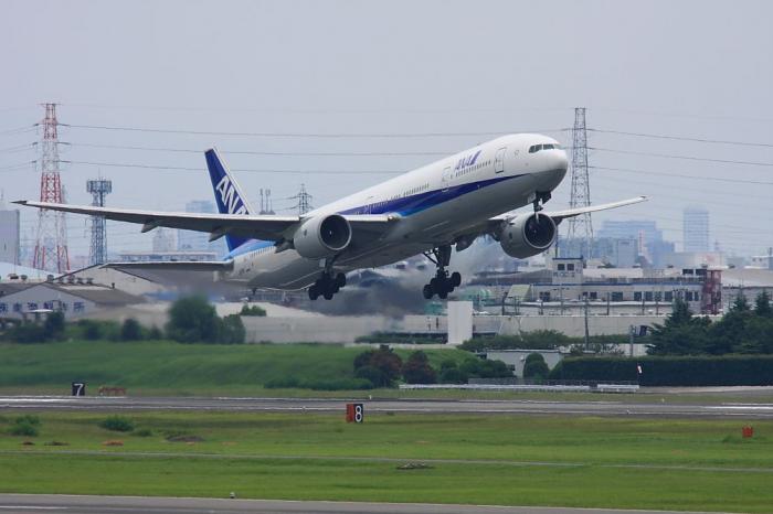ANA B777-381 ANA105@下河原緑地展望台(by 40D with SIGMA APO300/2.8EX+APO TC1.4x)