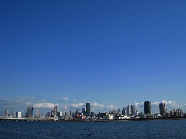 R2淀川大橋からの眺め(by IXY DIGITAL 910IS)
