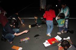 キャンプの夜はやっぱ花火