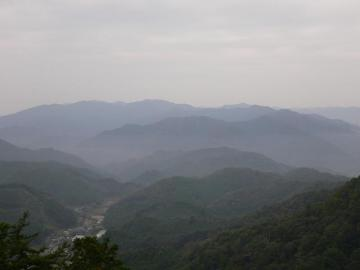 鳳来山からの景色