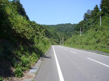 山だらけの道
