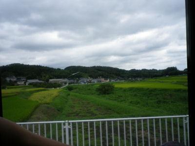 バスの車窓から見える風景