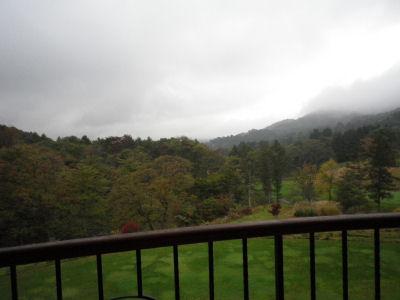 曇りというか霧雨